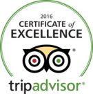 TripAdvisor Certificate of Excellence 2016 Logo